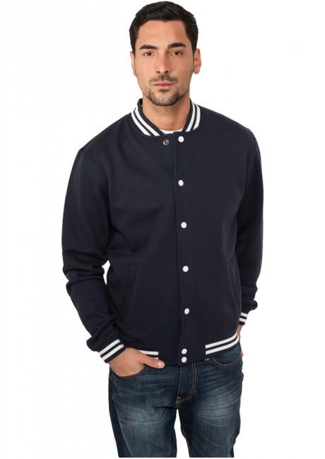 Urban Classics College Sweatjacket navy - XS