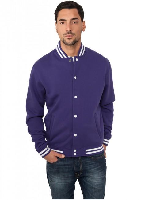 Urban Classics College Sweatjacket purple - XS