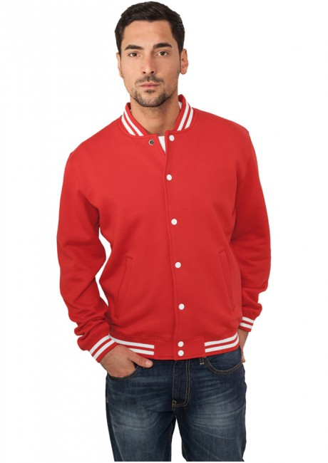 Urban Classics College Sweatjacket red - XS