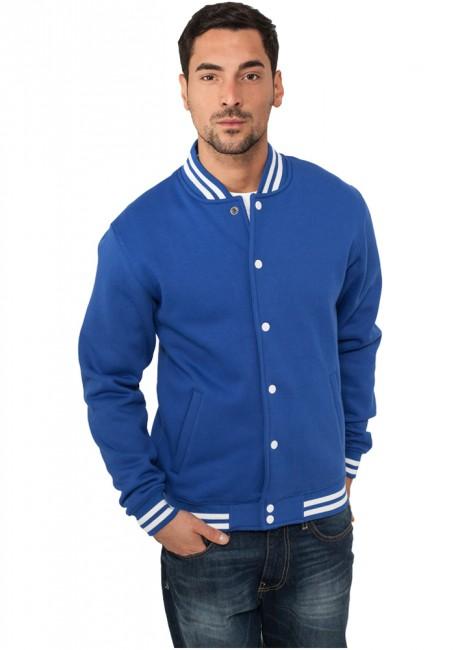 Urban Classics College Sweatjacket royal - XS