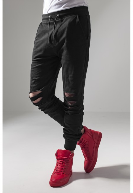 Urban Classics Cutted Terry Pants black