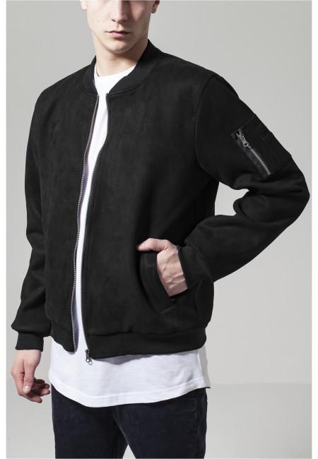 Urban Classics Imitation Suede Bomber Jacket black - L