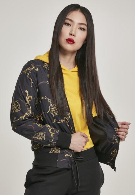 Levně Urban Classics Ladies AOP Blouson luxury black