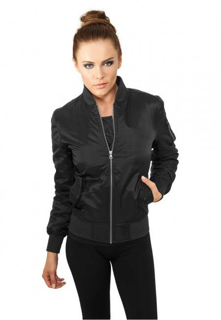 Urban Classics Ladies Basic Bomber Jacket black - L