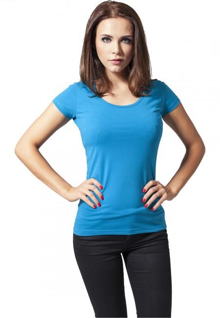 Urban Classics Ladies Basic Tee turquoise - XS
