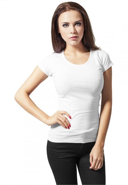 Urban Classics Ladies Basic Tee white - L
