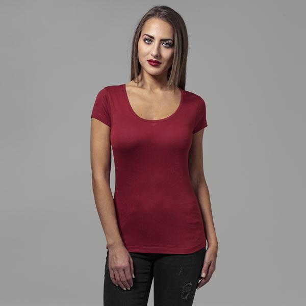 Urban Classics Ladies Basic Viscose Tee burgundy - L