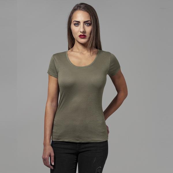Urban Classics Ladies Basic Viscose Tee olive - L