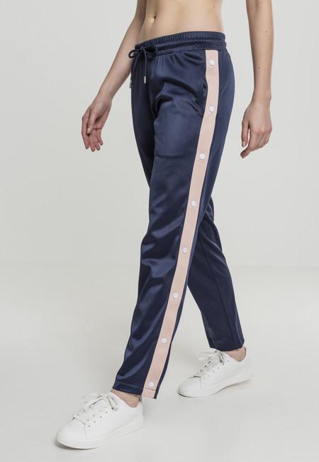 Urban Classics Ladies Button Up Track Pants navy/lightrose/white - M