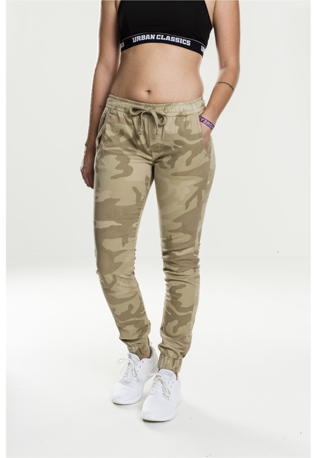 Urban Classics Ladies Camo Jogging Pants sand camo