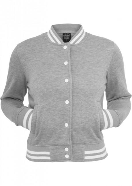 Urban Classics Ladies College Sweatjacket grey - S