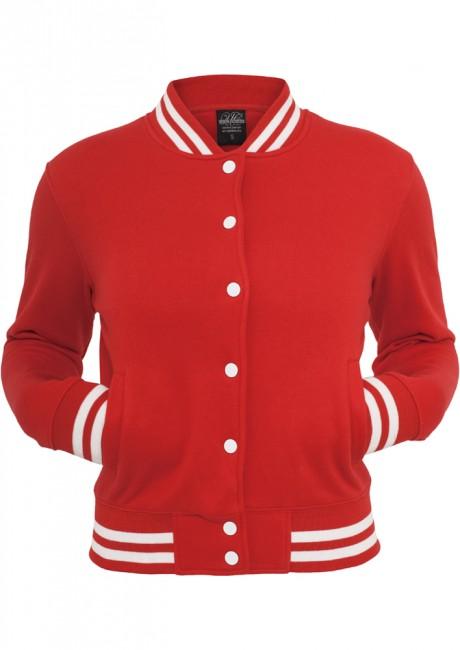Urban Classics Ladies College Sweatjacket red - XL