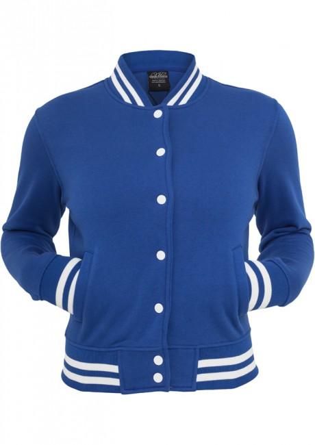 Urban Classics Ladies College Sweatjacket royal - XS