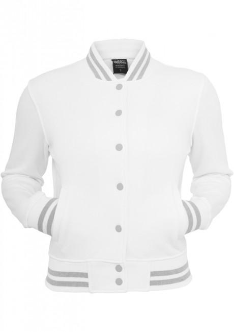 Urban Classics Ladies College Sweatjacket white - S