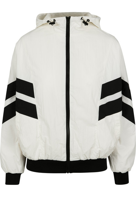 Urban Classics Ladies Crinkle Batwing Jacket wht/blk