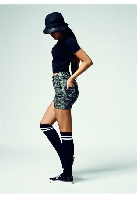 Urban Classics Ladies Cropped Tee black - L