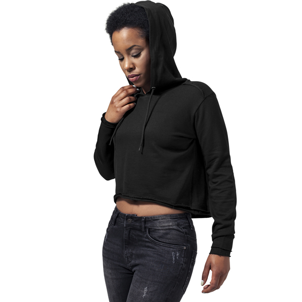 Dámská mikina Urban Classics Ladies Cropped Terry Hoody black