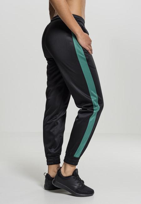 Urban Classics Ladies Cuff Track Pants black/green - M
