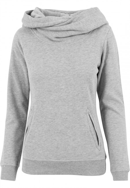 Urban Classics Ladies High Neck Hoody grey