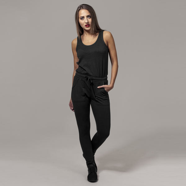 Urban Classics Ladies Melange Jumpsuit black/black