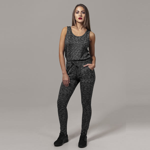 Urban Classics Ladies Melange Jumpsuit darkgrey/black