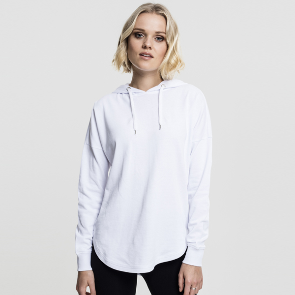 Dámská mikina Urban Classics Ladies Oversized Terry Hoody white