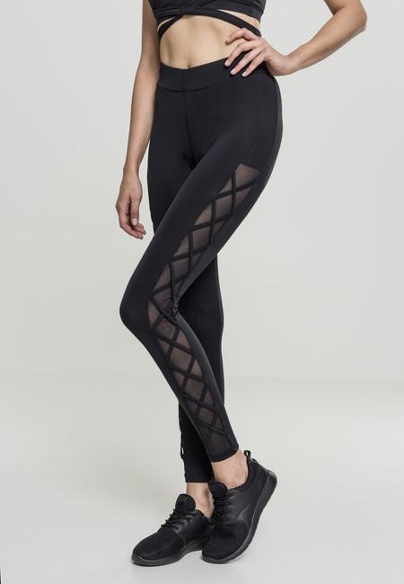 Urban Classics Ladies Ribbon Mesh Leggings black