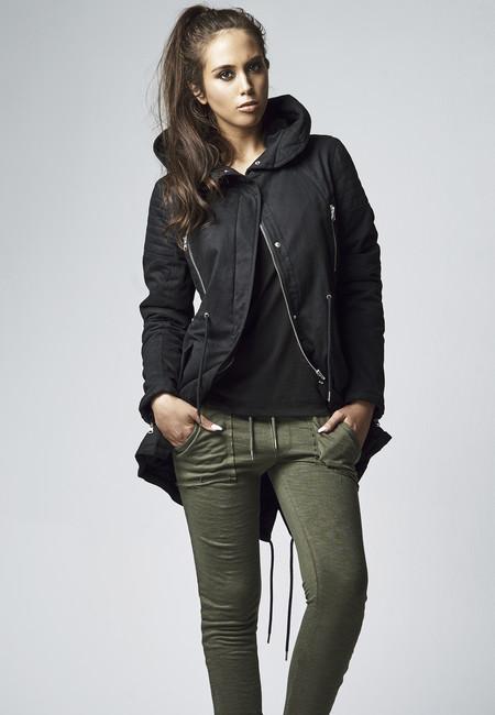 Urban Classics Ladies Sherpa Lined Cotton Parka black
