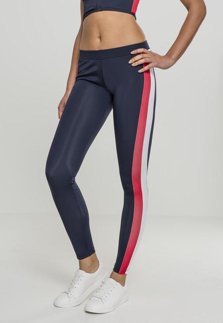Urban Classics Ladies Side Stripe Leggings nvy/red/wht
