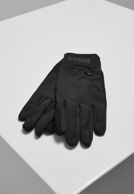 Levně Urban Classics Logo Cuff Performance Gloves black