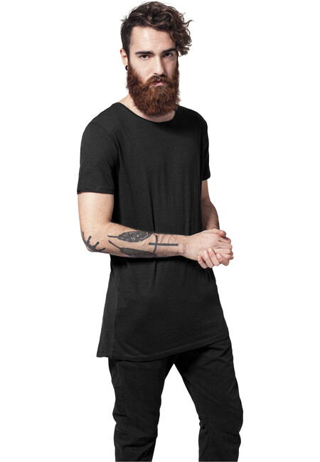 Urban Classics Long Back Shaped Slub Tee black - M