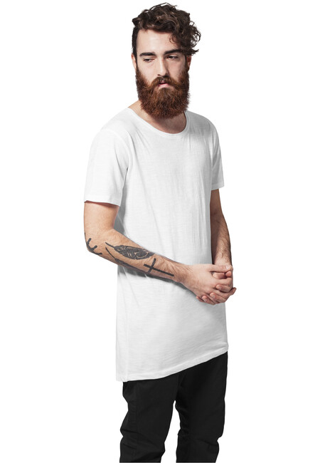 Urban Classics Long Back Shaped Slub Tee white - M