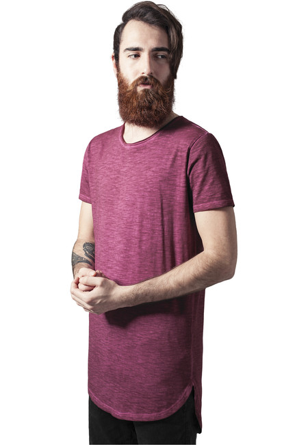 Urban Classics Long Back Shaped Spray Dye Tee burgundy - M