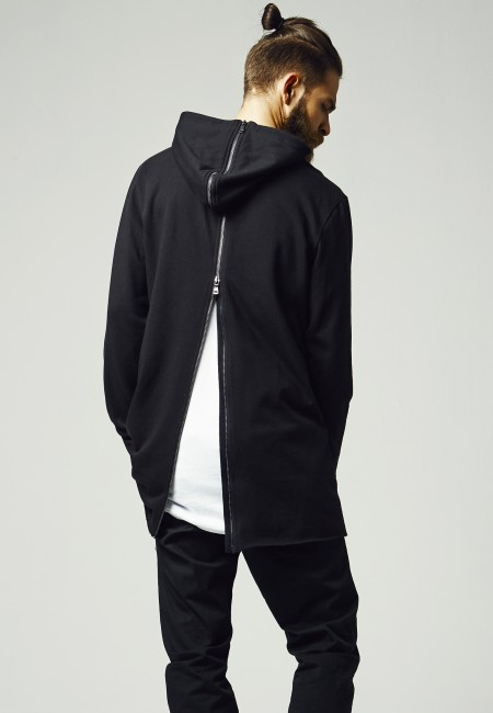 Urban Classics Long Shaped Back Zipped Hoody black - M