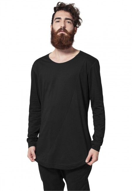 Urban Classics Long Shaped Fashion L/S Tee black - M