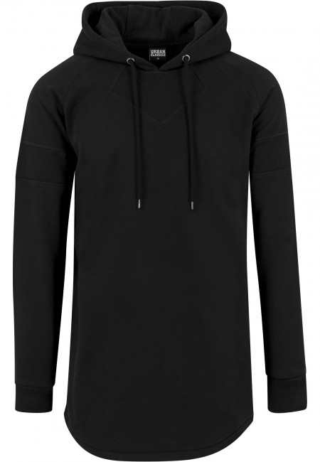 Urban Classics Long Shaped Hoody black - M