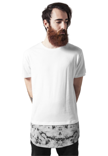 Urban Classics Long Shaped Marble Tee white - M