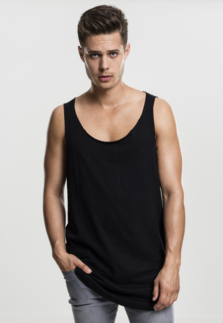 Urban Classics Long Shaped Open Edge Loose Tank black - M