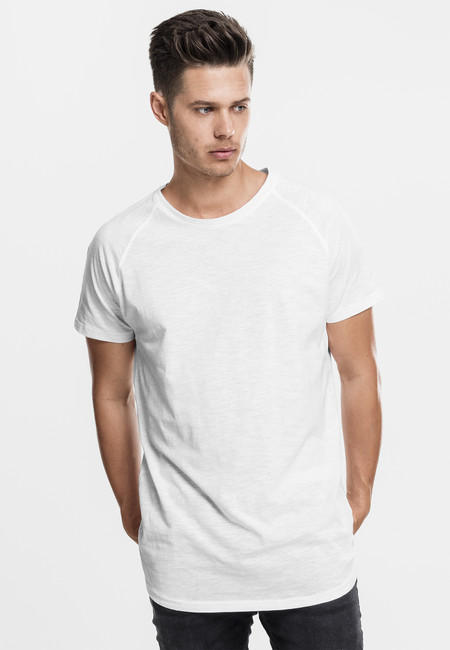 Urban Classics Long Shaped Slub Raglan Tee white - M