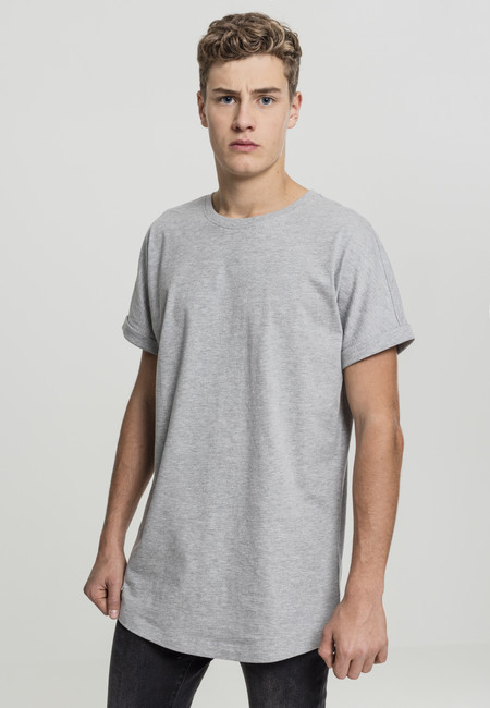 Urban Classics Long Shaped Turnup Tee grey - M