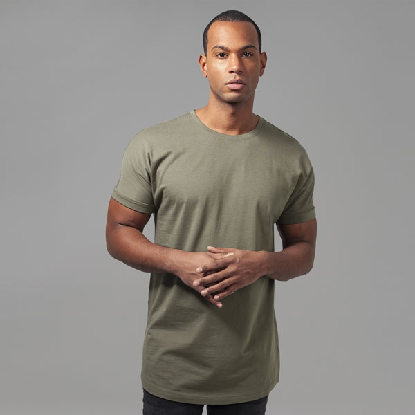 Urban Classics Long Shaped Turnup Tee olive - M