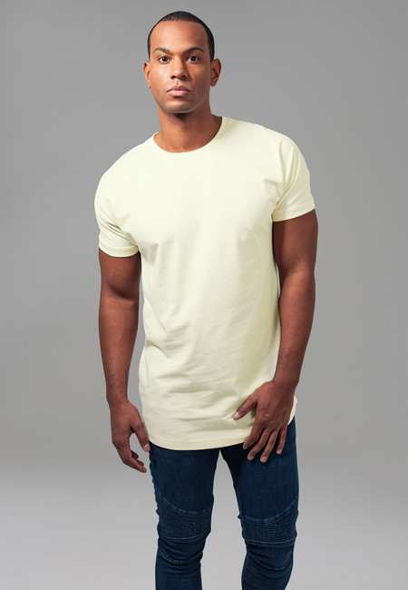 Urban Classics Long Shaped Turnup Tee powderyellow - M