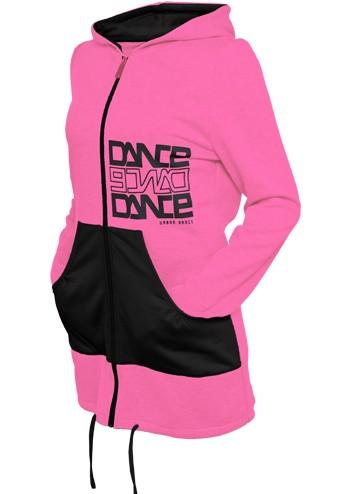 Urban Classics Long Zip Hoody Pink - S