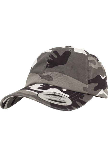 Urban Classics Low Profile Camo Washed Cap silver camo - UNI
