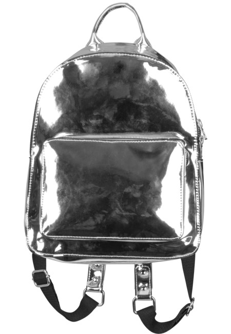 Urban Classics Midi Metallic Backpack silver - UNI