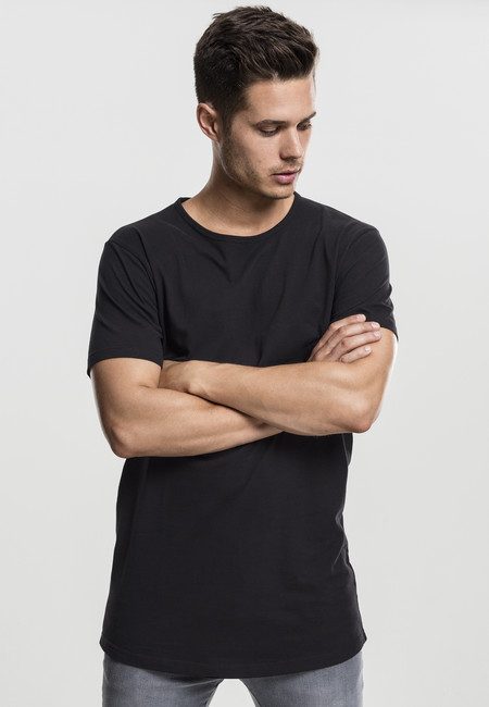 Urban Classics Peached Shaped Long Tee black - M