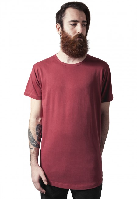 Urban Classics Peached Shaped Long Tee burgundy - M
