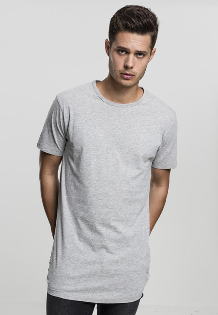 Urban Classics Peached Shaped Long Tee grey - M