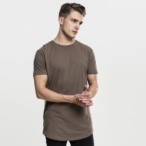 Pánské tričko Urban Classics Shaped Long Tee army green - M