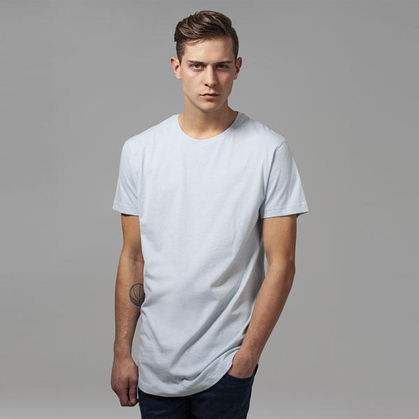Pánské tričko Urban Classics Shaped Long Tee babyblue - M